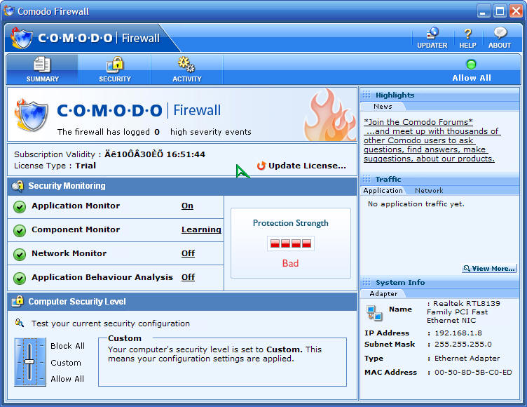 comodo firewall防火墙 v8.4.0.5068 64位&32位简体中文版