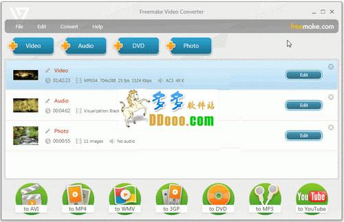 Freemake Video Converter(免费视频转换器) v4.1.9.19中文版