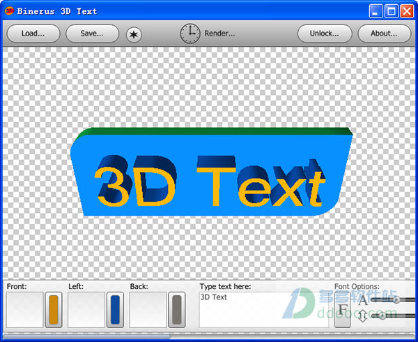 3d文字制作软件(binerus 3D Text) v1.0.0绿色免费版