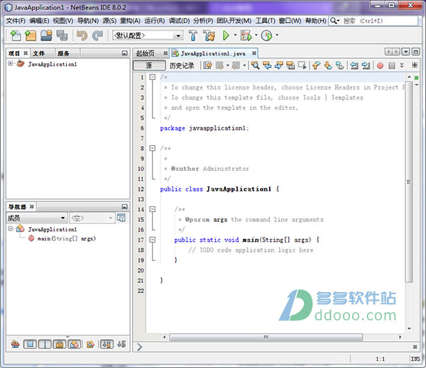 Netbeans IDE 8.0.2中文版