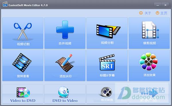 EasiestSoft Movie Editor(视频切割/合并/修剪/加水印工具) v4.8