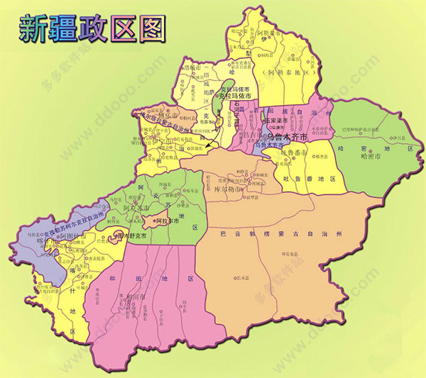 新疆地图全图高清版 新疆地图高清版大图下载 官方最新版