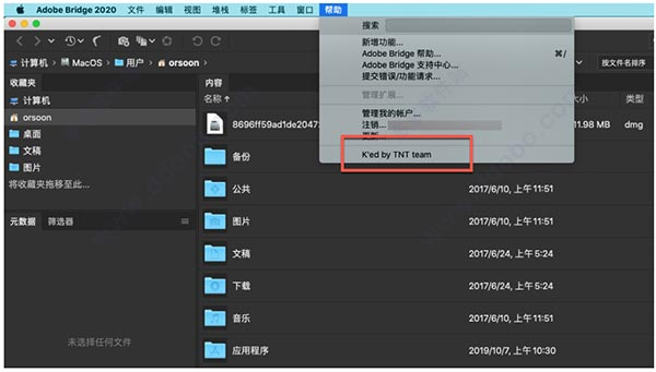 adobe bridge 2020 mac中文破解版