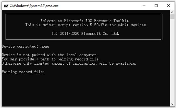 elcomsoft ios forensic toolkit破解版(ios取证工具)下载 v5.50